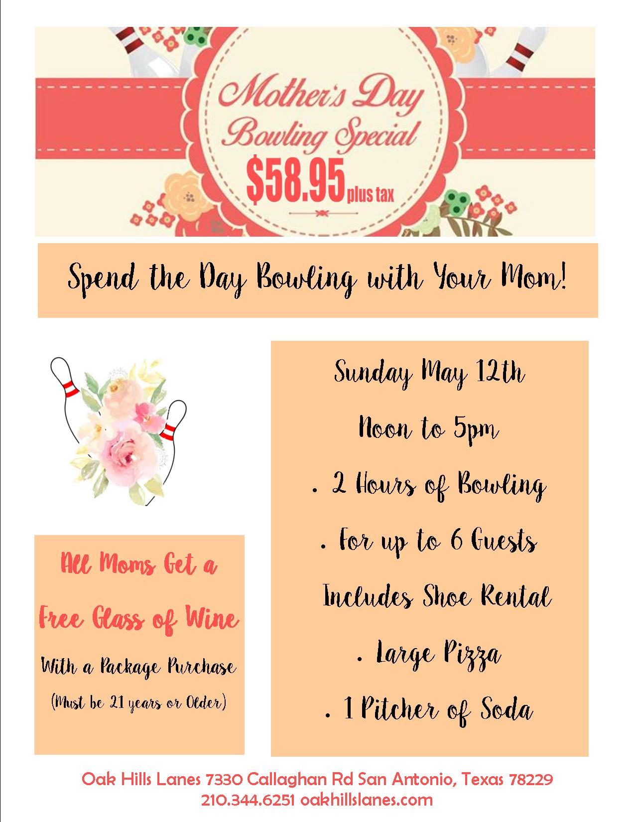 Mother's Day Bowling Special