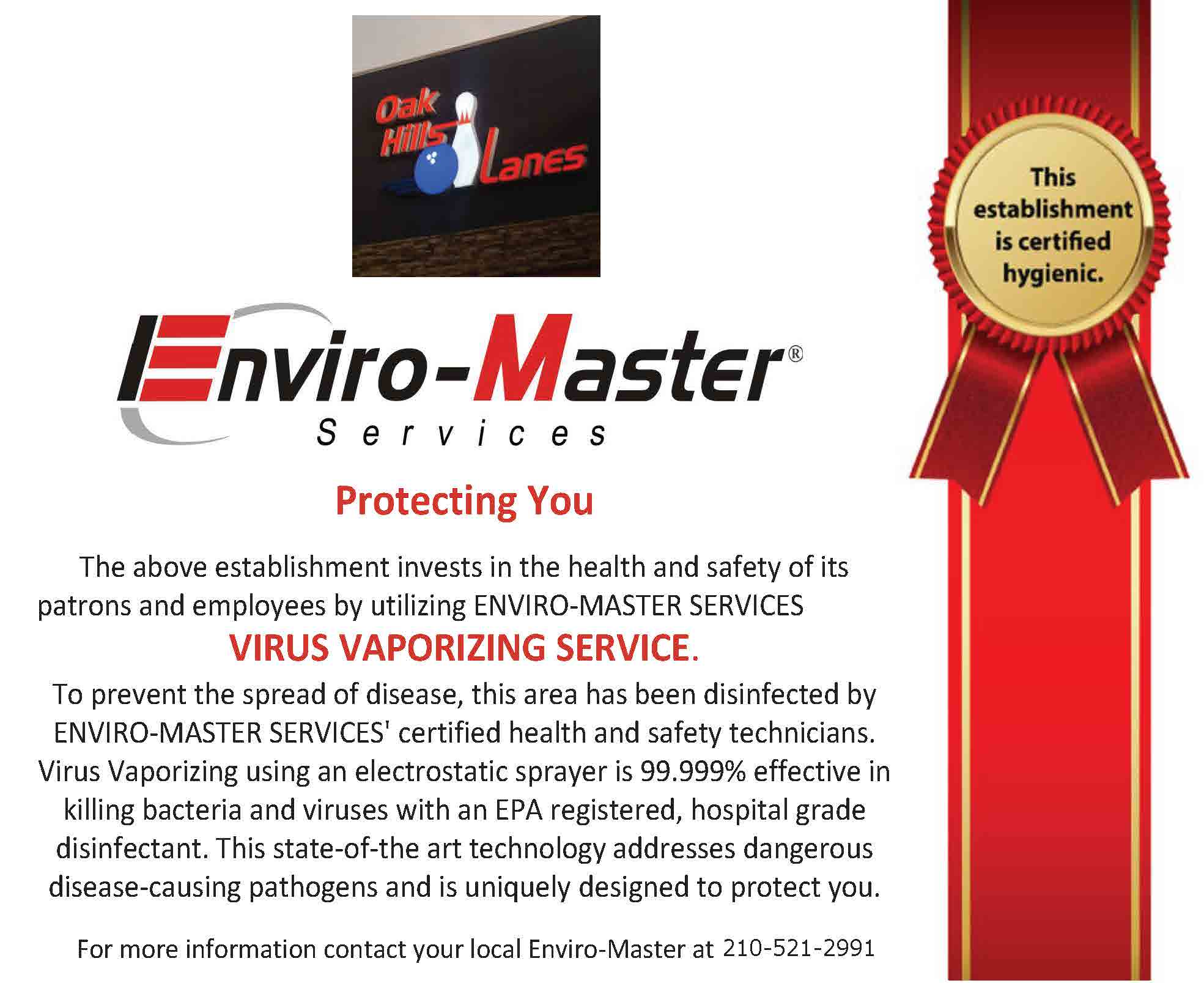 Certification of Virus Vaporizing Service_UPS